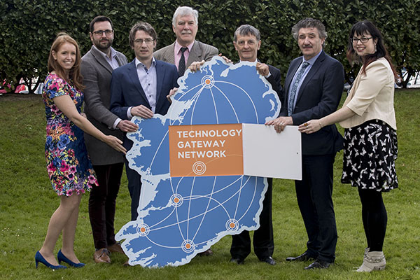 Group shot with Minister John Halligan and Michael Hughes, Enterprise Ireland
