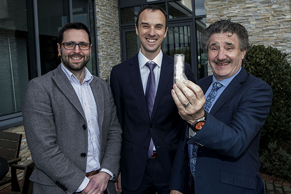 Technology Gateways Launch Minister John Halligan with Niall O Reilly and Marc Kelly