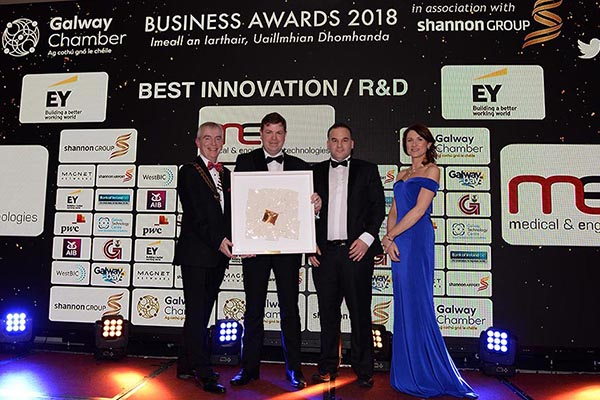 MET Technology Gateway wins Best Innovation R&D Award at the Galway Chamber Business Awards 2018